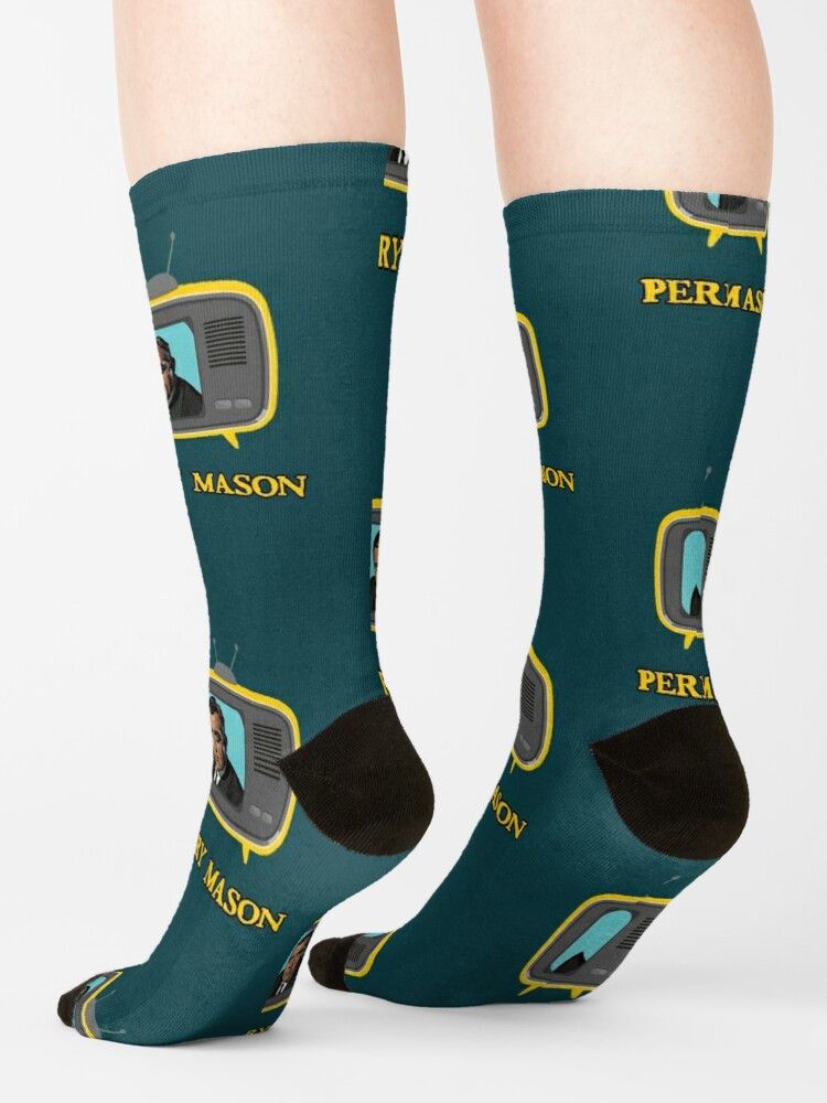 Alternate view of perry mason tv lawyer vintage Socks