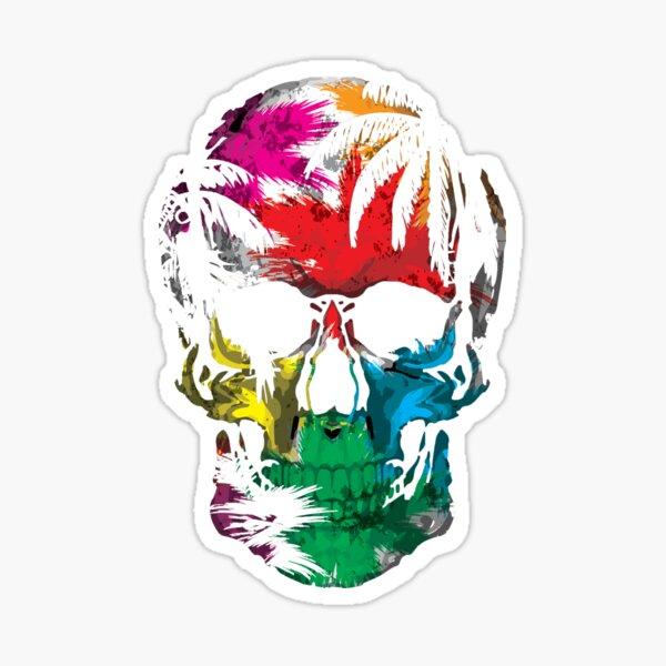 The Watercolor Skull Sticker