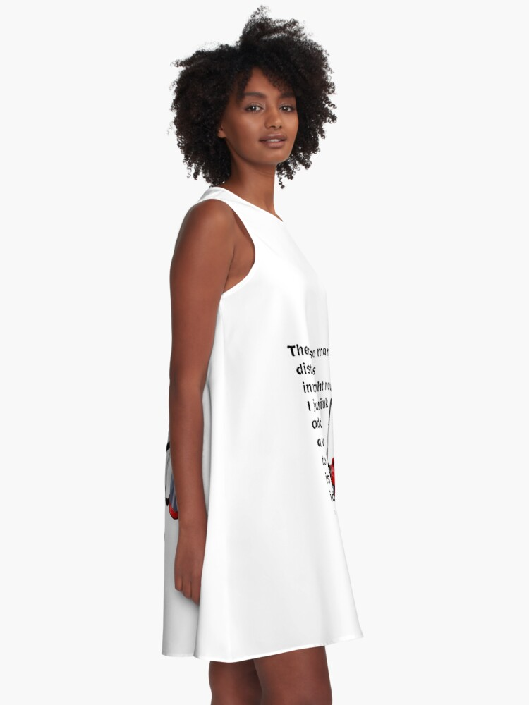 Alternate view of So Many Distractions - Vacuum Humor A-Line Dress