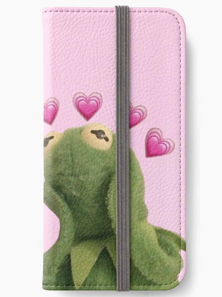 Kermit Hearts Iphone Wallet By Cheybunny Redbubble
