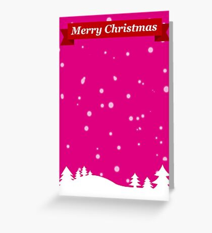 Pink Sky at Night - Christmas Delight Greeting Card