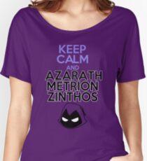 Camiseta ancha para mujer Mantenga la calma y Azarath Mentrion Zinthos