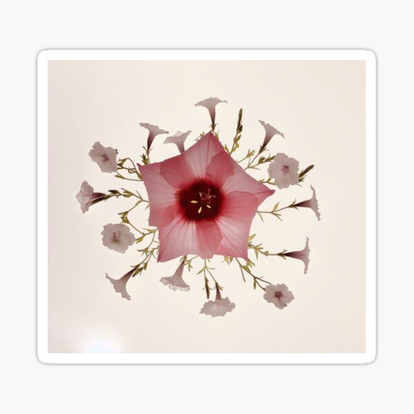 Florus Vintage-inspired botanical Sticker
