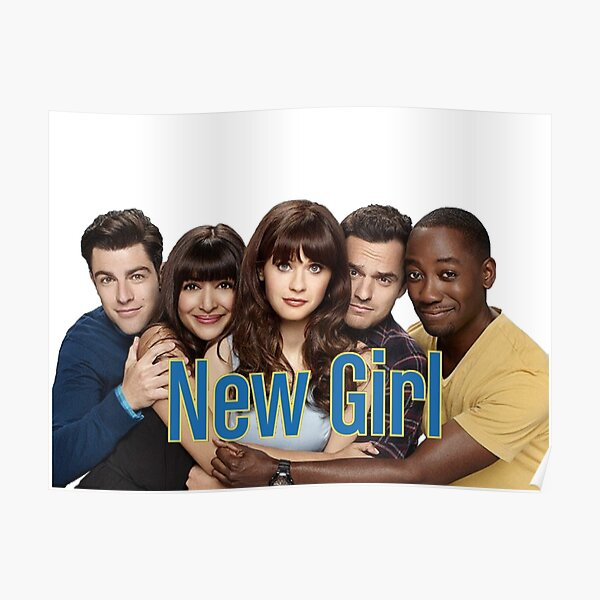 New Girl Cast and logo Poster