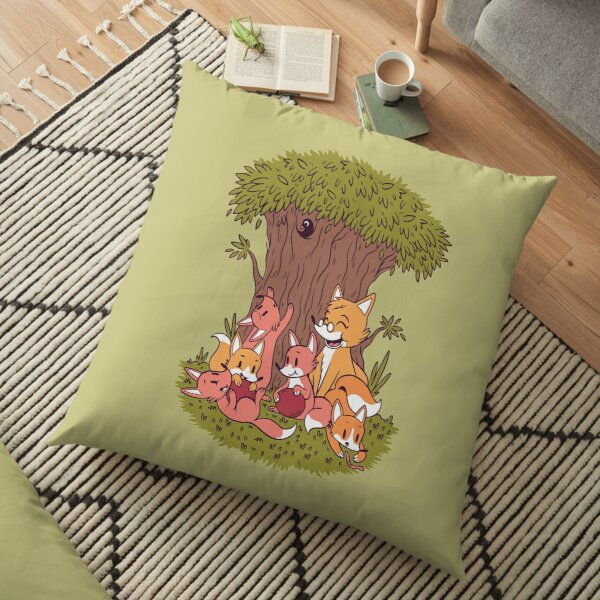 FAMILY FOXES Floor Pillow