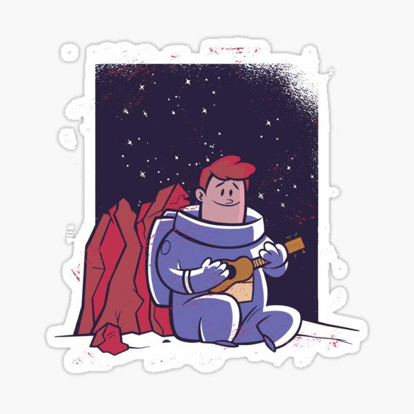 Outer space music by an astronaut Sticker