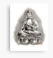 Buddha Medicine sumi-e tibetan calligraphy 禅 figure sculpture original ink painting artwork Metal Print