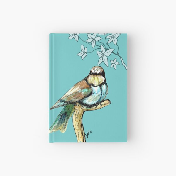 Abejaruco con flores Cuaderno de tapa dura