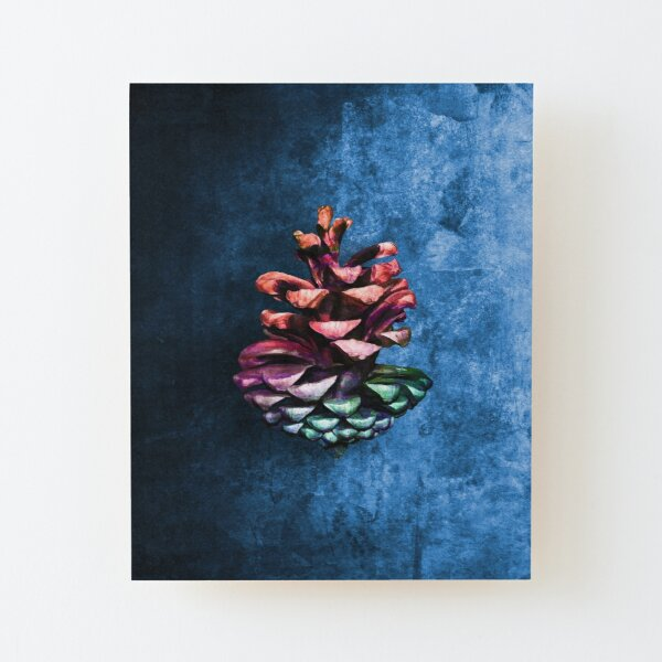 Conifer cone painting Wood Mounted Print