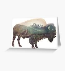Bison and Independence Mine Greeting Card