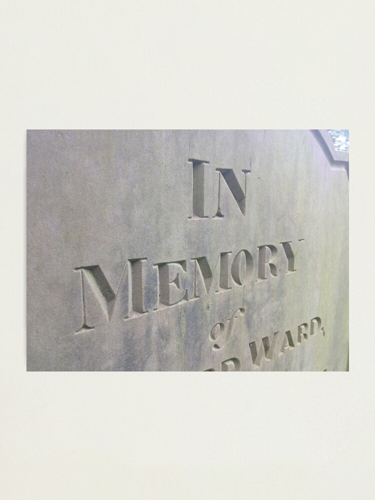 Alternate view of In  Memory Photographic Print