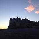 Edinburgh Castle. Dusk. by Robert Steadman