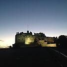 Edinburgh Castle, illuminated by Robert Steadman