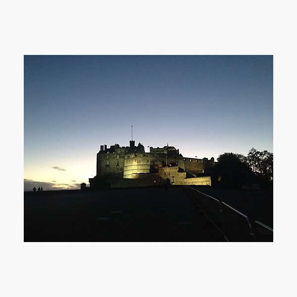 Edinburgh Castle, illuminated Photographic Print
