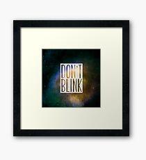 Doctor Who - Don't Blink Framed Print