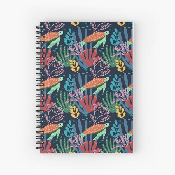 Turtle Seascape Pattern Spiral Notebook