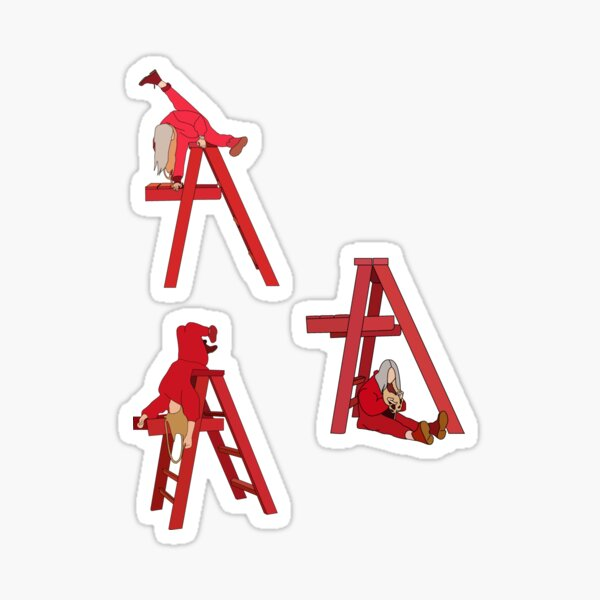 Billie Eilish ne me sourit pas autocollant. lot de 3 Sticker
