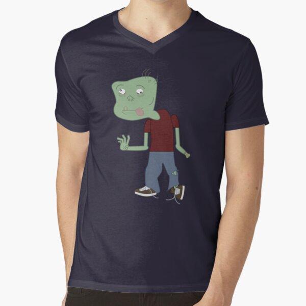 Cartoon Zombie V-Neck T-Shirt