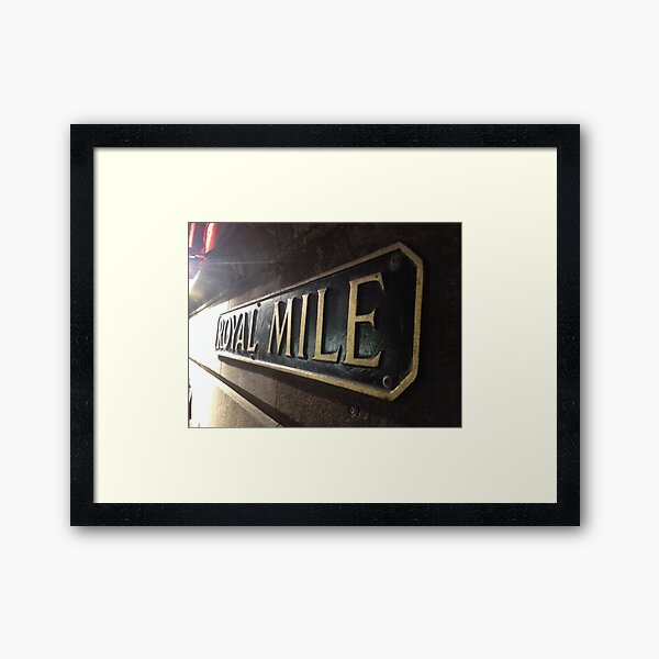 Royal Mile, Edinburgh Framed Art Print