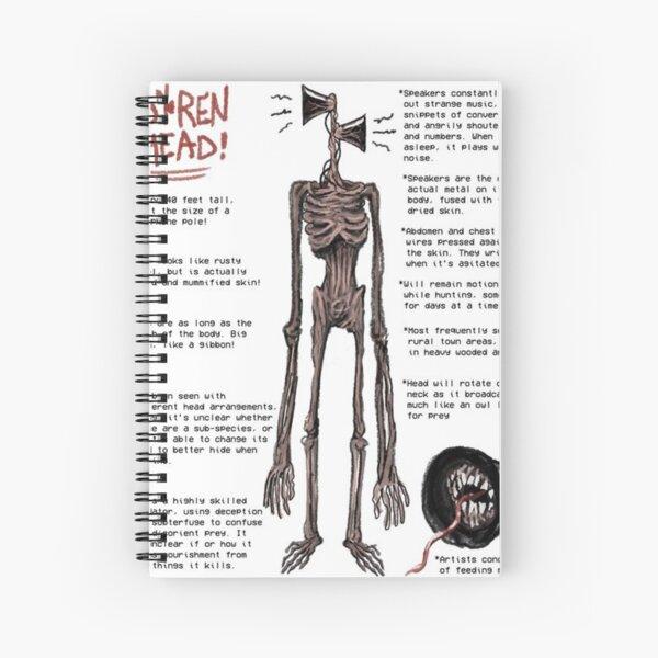 Siren Head Details Spiral Notebook
