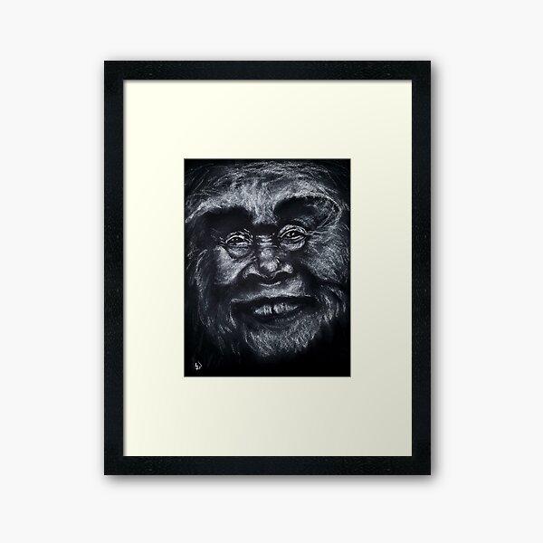 River - Lady Sasquatch Framed Art Print