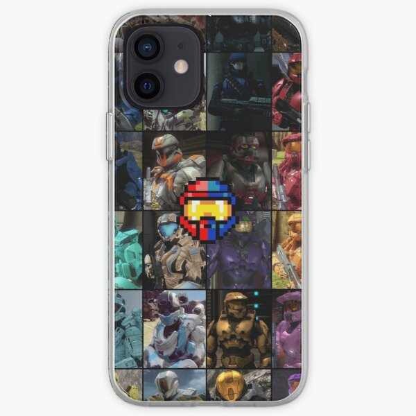 Red vs Blue Character Sheet iPhone Soft Case