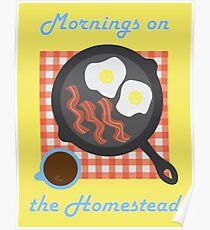 Homestead Breakfast Poster
