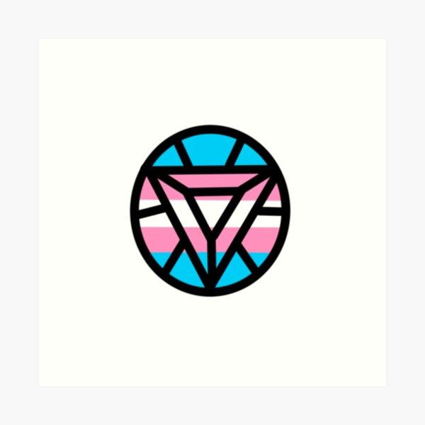 I Trans Pride Logo Art Print