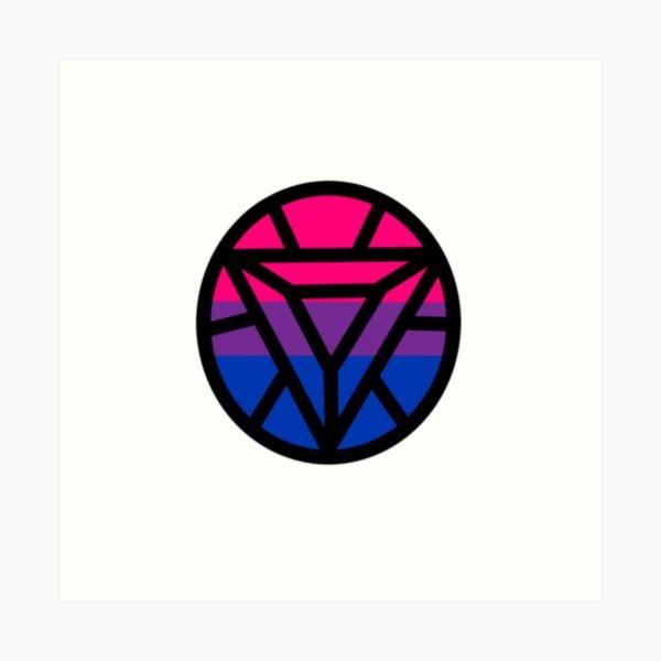 Iron Bisexual Pride Logo Art Print