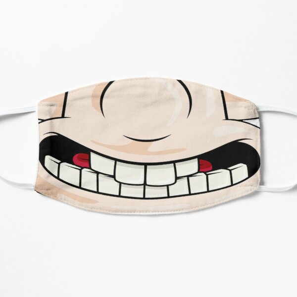 wallace smile face  Flat Mask