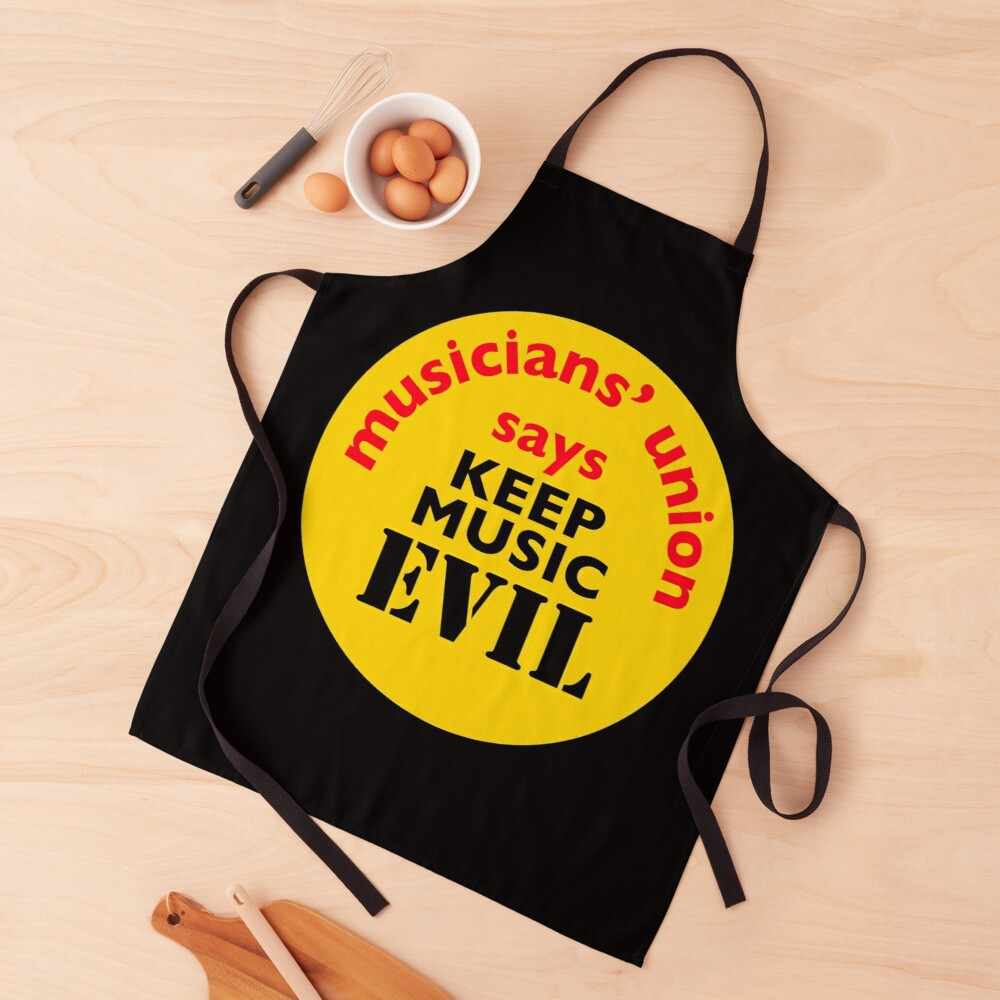 NDVH Keep Music Evil Apron
