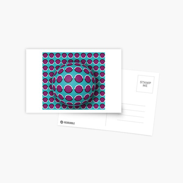 Visual Illusion Postcard