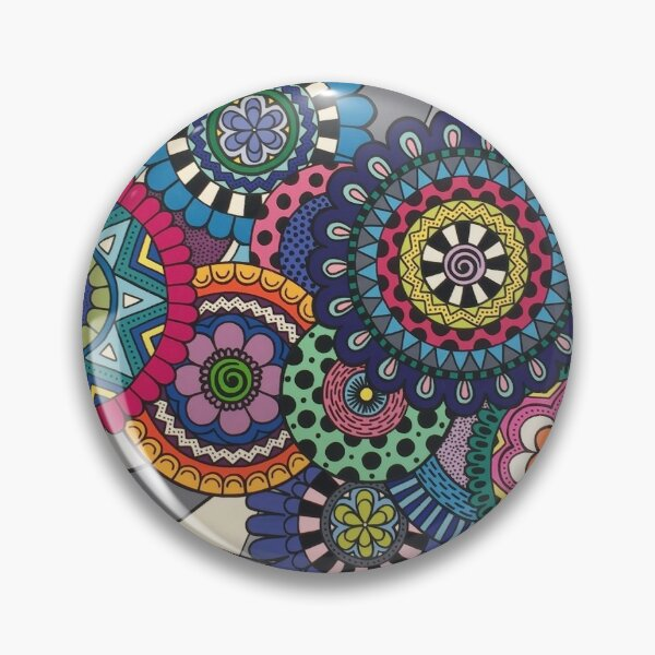 Mandalas In Bloom Pin