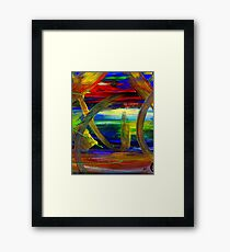 Sailing in Calmness Over A Troubled Sea Framed Print