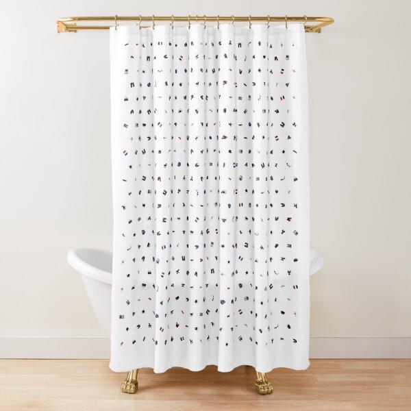 Symbols of France (No Background) Shower Curtain