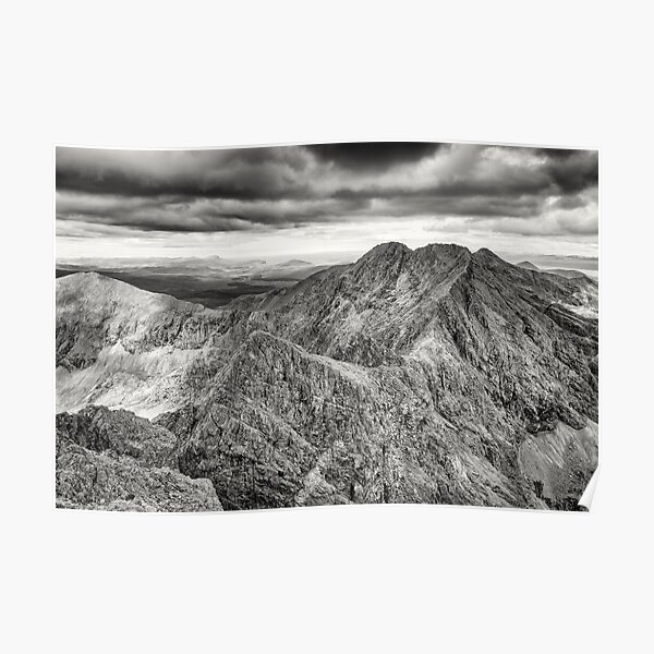 Looking north along the Black Cuillin ridge. Poster