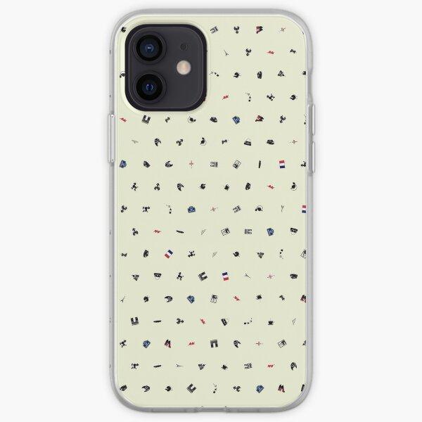 Symbols of France (Beige) iPhone Soft Case