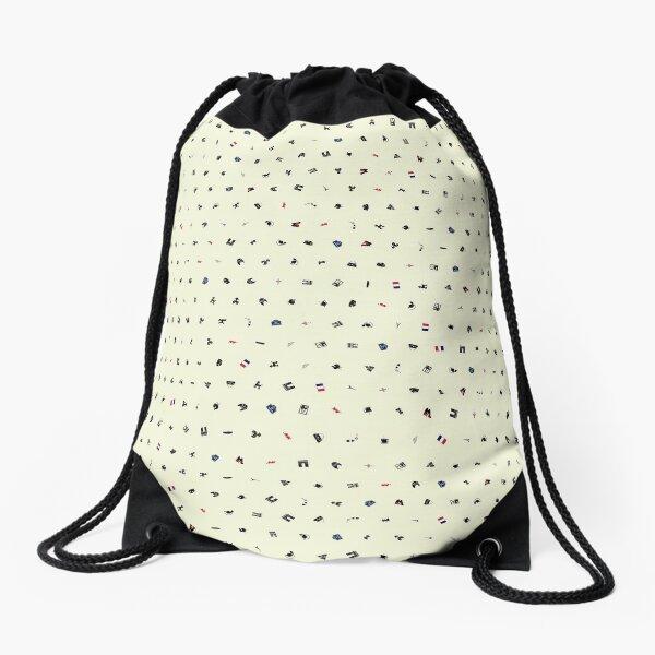 Symbols of France (Beige) Drawstring Bag