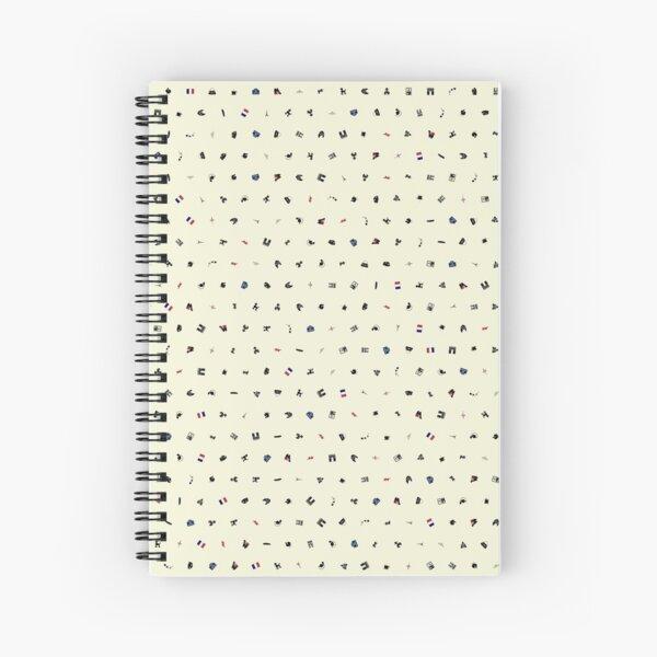 Symbols of France (Beige) Spiral Notebook