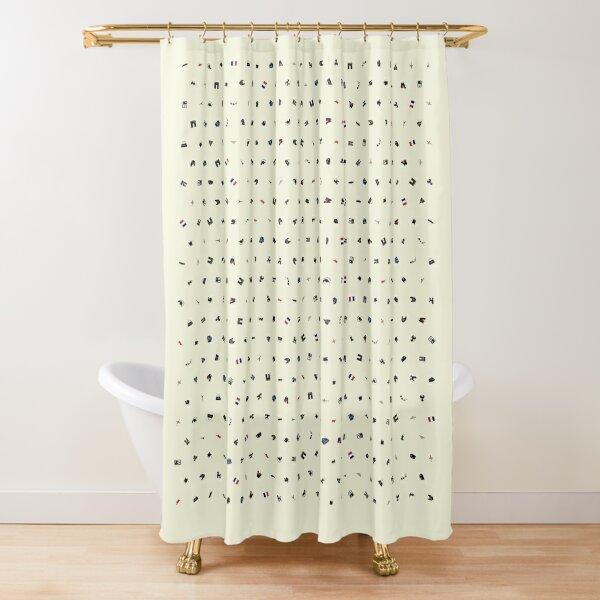Symbols of France (Beige) Shower Curtain
