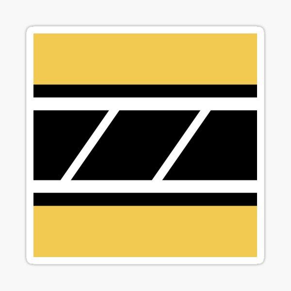 Retro Speedblock Yellow Sticker