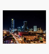 Downtown Oklahoma City at Night Photographic Print