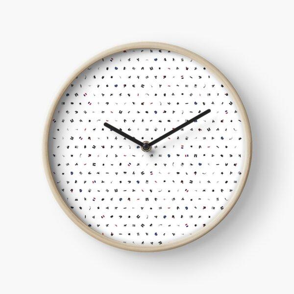 Symbols of France (No Background) Clock
