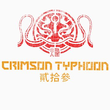 Crimson Typhoon (red and gold) by TheBatchild