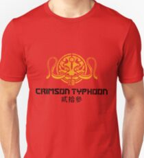 Crimson Typhoon (gold and black) Unisex T-Shirt