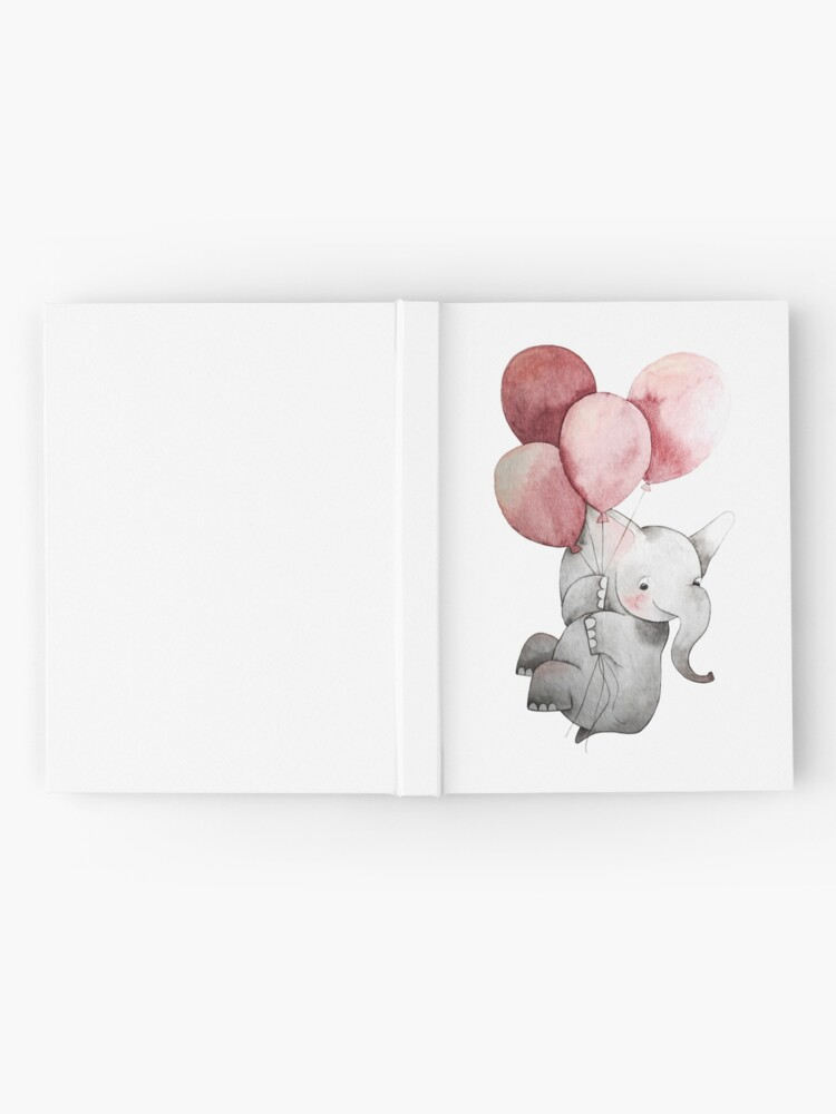 Alternate view of Baby Elephant with Balloons Hardcover Journal