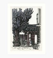 South Korea : Gyeongju Guesthouse Art Print