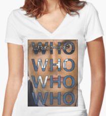 Descending Doctor Who Women's Fitted V-Neck T-Shirt