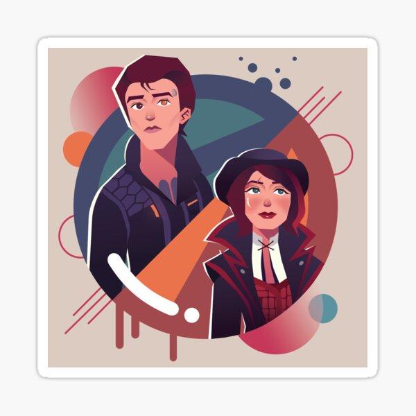 Rhys & Fiona Fanart Sticker