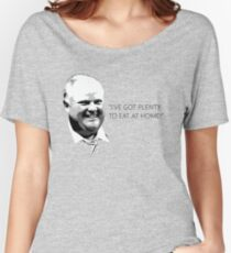"""Mayor Rob Ford- """"I've got enough to eat at home!"""" (Black Lettering) Women's Relaxed Fit T-Shirt"""